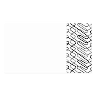 paper083 PAPER CLIPS GEOMETRIC SHAPES BLACK WHITE Business Card Templates