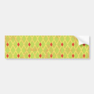 paper084 DIAMOND ARGYLE SPRING GREEN YELLOW RED P Bumper Sticker