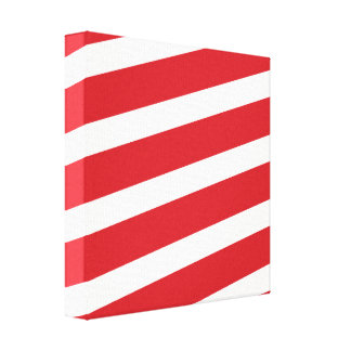PAPER092 RED CREAMY WHITE CANDY CANDYCANE STRIPES CANVAS PRINT