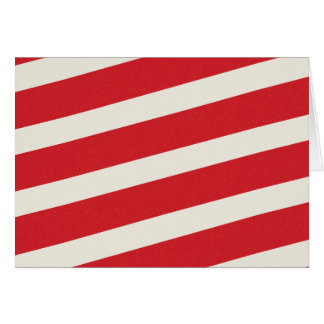 PAPER092 RED CREAMY WHITE CANDY CANDYCANE STRIPES GREETING CARD