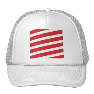 PAPER092 RED CREAMY WHITE CANDY CANDYCANE STRIPES MESH HATS