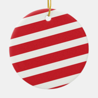 PAPER092 RED CREAMY WHITE CANDY CANDYCANE STRIPES ORNAMENT