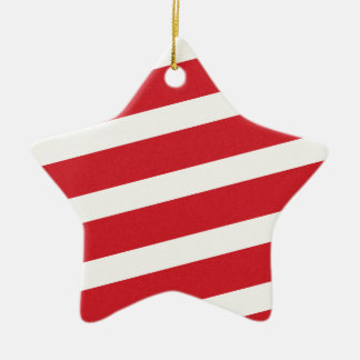 PAPER092 RED CREAMY WHITE CANDY CANDYCANE STRIPES CHRISTMAS ORNAMENT