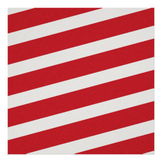 PAPER092 RED CREAMY WHITE CANDY CANDYCANE STRIPES POSTER