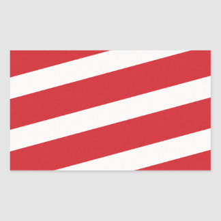 PAPER092 RED CREAMY WHITE CANDY CANDYCANE STRIPES RECTANGLE STICKERS