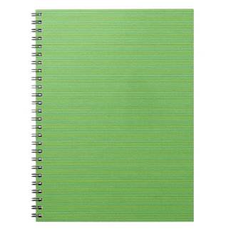 paper107 THIN GREEN GRASS STRIPES PATTERN LUSH BAC Spiral Note Books