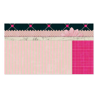 PAPER10 GIRLY SCRAPBOOKING BLACK PINKS WHITE PATTE Double-Sided STANDARD BUSINESS CARDS (Pack OF 100)