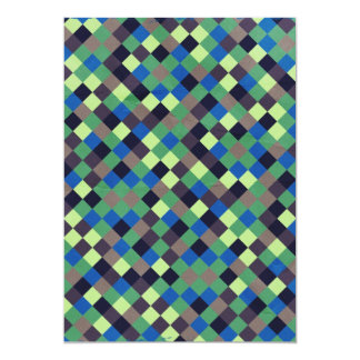 paper132 SQUARES BROWN BLUE GREEN BLACK OPTICAL IL Card