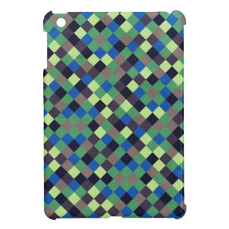 paper132 SQUARES BROWN BLUE GREEN BLACK OPTICAL IL iPad Mini Cases