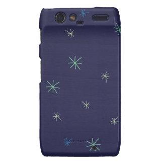 paper136 STARS NIGHT SKY ELEMENTS BLUES CARTOON GR Droid RAZR Covers