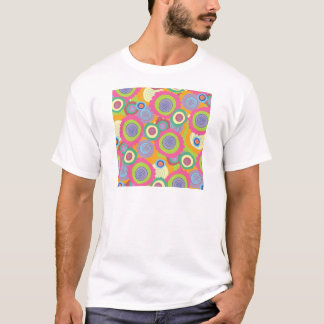 paper555b COLORFUL RETRO CIRCLES BUBBLES RANDOM FU T-Shirt