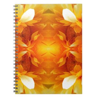 paper-682631 ORANGE DIGITAL REALISM FLOWERS FLORAL Note Books