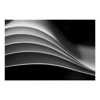 Paper, a different view - black & white abstract posters