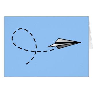 Paper Air Plane Greeting Card