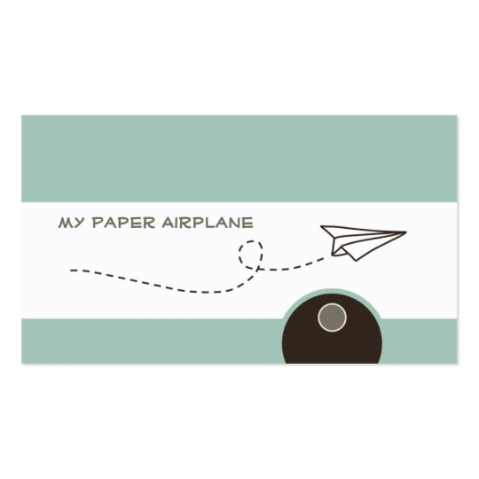 Paper Airplane Business Cards