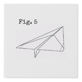Blueprint paper gifts on zazzle paper airplane fig 5 faux canvas print malvernweather Choice Image