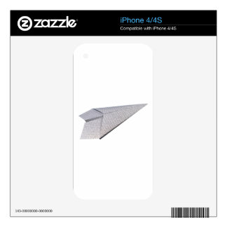 Paper Airplane - Flying Code iPhone 4 Decals
