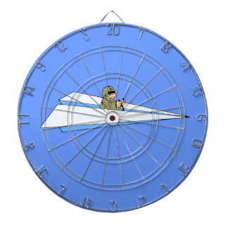 Paper Airplane Flying With Pilot Dartboards