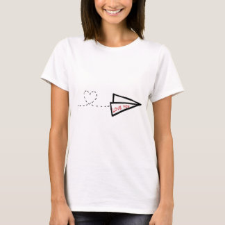 Paper Airplane Love Letter T-Shirt