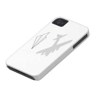 Paper Airplane Overactive Imagination iPhone 4 Cases