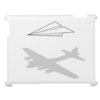 Paper Airplane Overactive Imagination iPad Cover