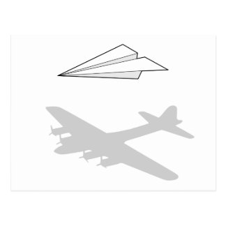 Paper Airplane Overactive Imagination Postcard