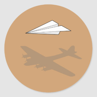Paper Airplane Overactive Imagination Stickers