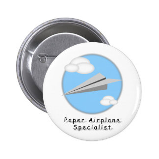 Paper Airplane - Pinback Button