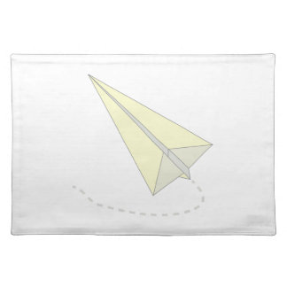 Paper Airplane Cloth Placemat