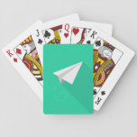 Paper airplane playing cards
