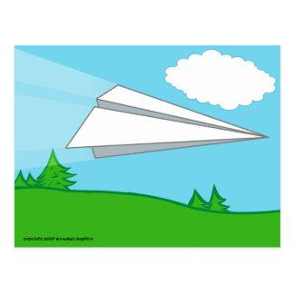 Paper Airplane Postcard
