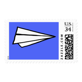 paper airplane stamp to personalize with name