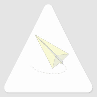 Paper Airplane Triangle Sticker