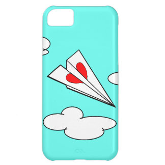 Paper Airplane with Heart Case For iPhone 5C
