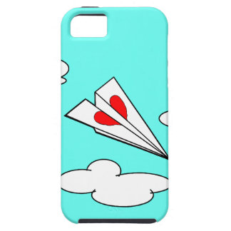 Paper Airplane with Heart iPhone 5 Case