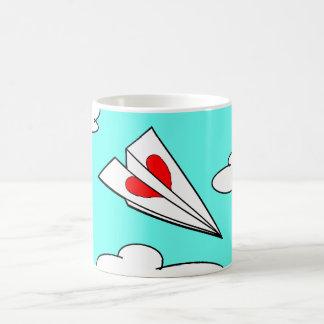 Paper Airplane with Heart Classic White Coffee Mug