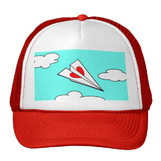Paper Airplane with Heart Trucker Hat