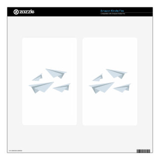 Paper Airplanes Decals For Kindle Fire