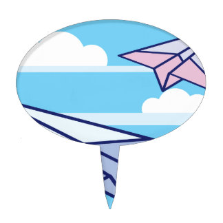 Paper Airplanes in the sky Cake Topper