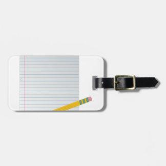 Paper And Pencil Bag Tag
