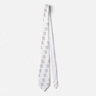 Paper And Pencil Neck Tie
