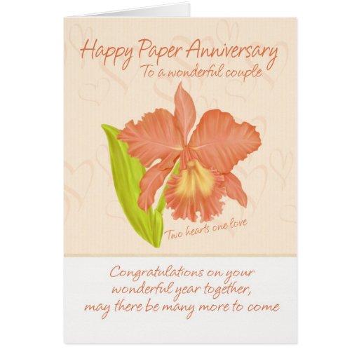 Paper Anniversary Card - 1st Anniversary