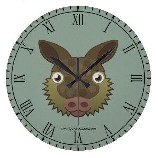 Paper Armadillo Large Clock
