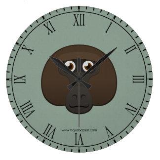 Paper Baboon Wall Clock