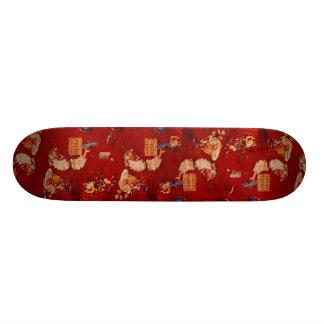 Paper background custom skate board