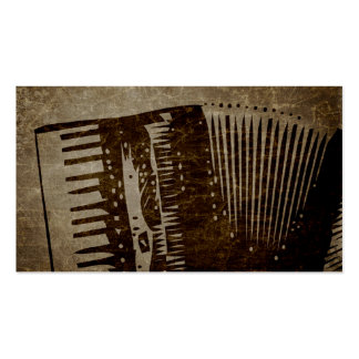 paper bag accordion. business card