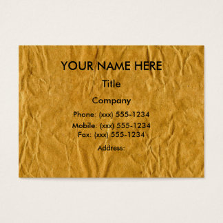 PAPER BAG BUSINESSPERSON (recycle theme) ~ Business Card