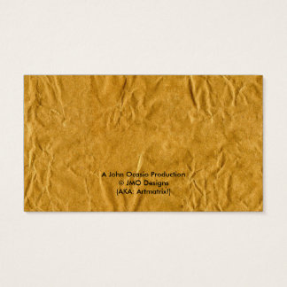 PAPER BAG BUSINESSPERSON! (recycle theme) ~ Business Card