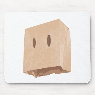 paper bag face mask mouse pad