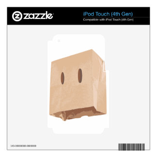 paper bag face mask skins for iPod touch 4G